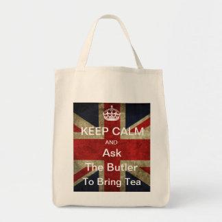 Guarde la calma para pedir que el mayordomo traiga bolsas