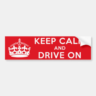 Guarde la calma pegatina para auto