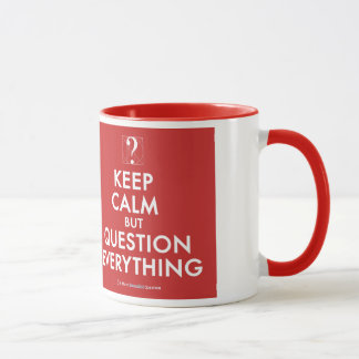 Guarde la calma pero la pregunta todo taza