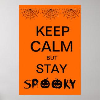 Guarde la calma pero permanezca fantasmagórico, po póster