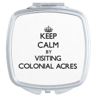 Guarde la calma por los acres coloniales que visit espejos maquillaje