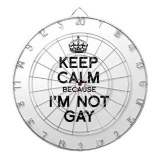 GUARDE LA CALMA PORQUE no soy GAY Tablero Dardos