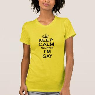 GUARDE LA CALMA PORQUE soy GAY Camisas