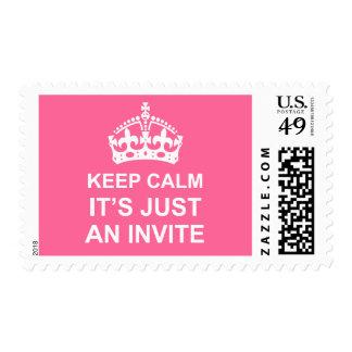 Guarde la calma que es apenas un sello de la invit