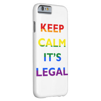 Guarde la calma que es caja legal del teléfono de funda para iPhone 6 barely there