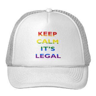 Guarde la calma que es gorra legal de la ayuda