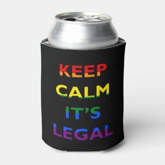 Guarde la calma que es la ayuda legal LGBT Enfriador De Latas
