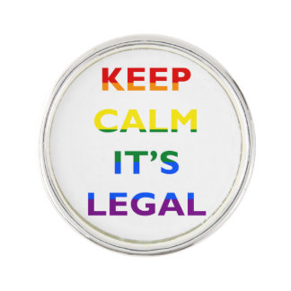 Guarde la calma que es la ayuda legal LGBT Pin