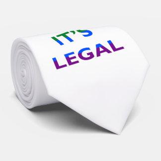 Guarde la calma que es lazo legal de la ayuda LGBT Corbata Personalizada