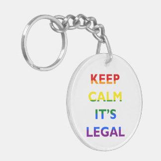 Guarde la calma que es llavero legal de la ayuda