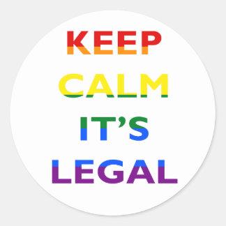 Guarde la calma que es pegatina legal de la ayuda