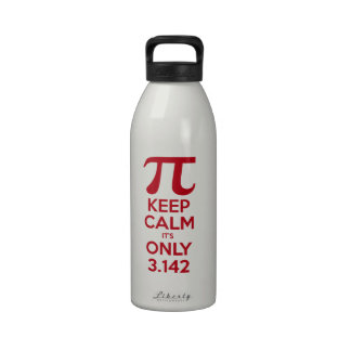 Guarde la calma que es solamente pi botella de beber
