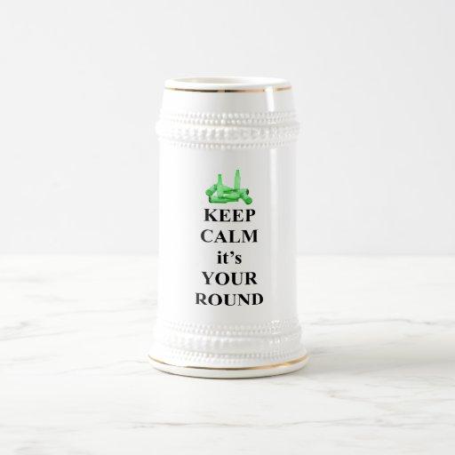 Guarde la calma que es su ronda taza de café