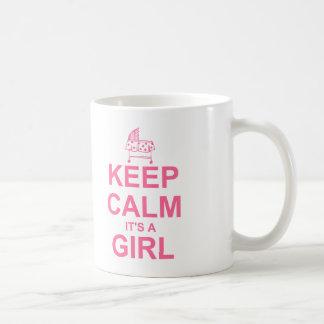 Guarde la calma que es un chica taza
