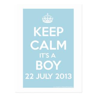 ¡Guarde la calma que es un muchacho! Postal