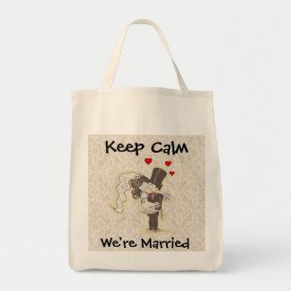 Guarde la calma que estamos casados que casan el b bolsas