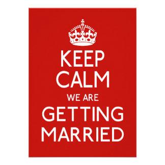 Guarde la calma que estamos consiguiendo casados - comunicados personales