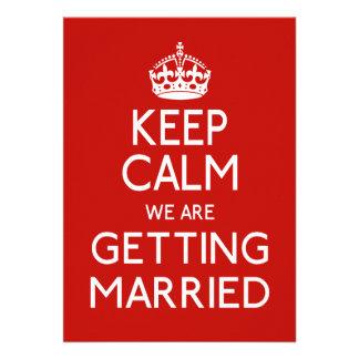 Guarde la calma que estamos consiguiendo casados - comunicados