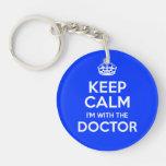 Guarde la calma que estoy con el doctor (con la co llaveros
