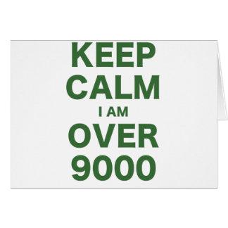 Guarde la calma que estoy sobre 9000 tarjetas