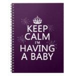 Guarde la calma que estoy teniendo un bebé (cualqu libretas