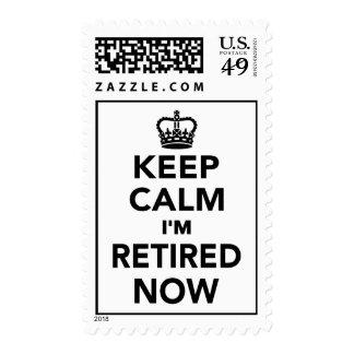Guarde la calma que me ahora retiran timbres postales
