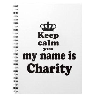 Guarde la calma que mi nombre es sí caridad