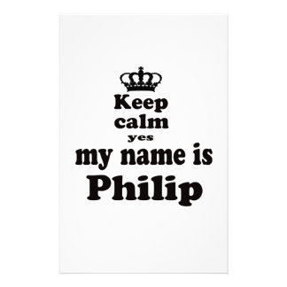 Guarde la calma que mi nombre es sí Philip