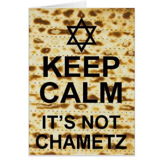 Guarde la calma que no es Chametz Tarjeta De Felicitación