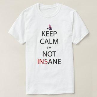 Guarde la calma que no soy camisa insana de Manga