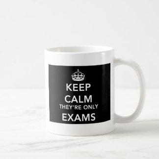 Guarde la calma que son solamente exámenes - taza