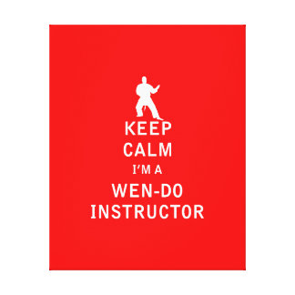 Guarde la calma que soy a Wen-Hago instructor Impresiones En Lienzo Estiradas