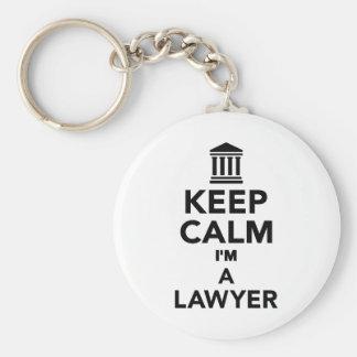 Guarde la calma que soy abogado llavero redondo tipo chapa