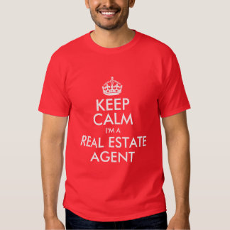 Guarde la calma que soy agente inmobiliario playera