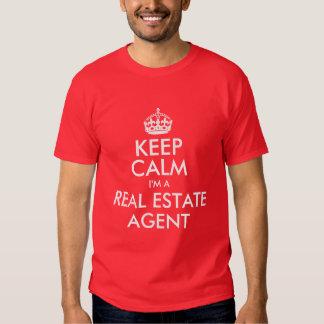Guarde la calma que soy agente inmobiliario playeras