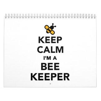 Guarde la calma que soy apicultor calendarios de pared