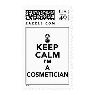 Guarde la calma que soy Cosmetician Sello Postal