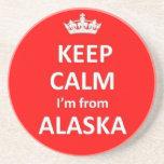 Guarde la calma que soy de Alaska Posavaso Para Bebida