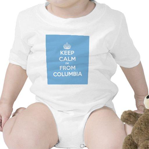 Guarde la calma que soy de Columbia Camiseta