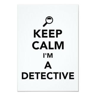"""Guarde la calma que soy detective invitación 3.5"""" x 5"""""""