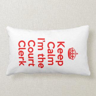 Guarde la calma que soy el alguacil en rojo almohadas