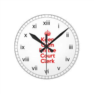 Guarde la calma que soy el alguacil en rojo reloj redondo mediano