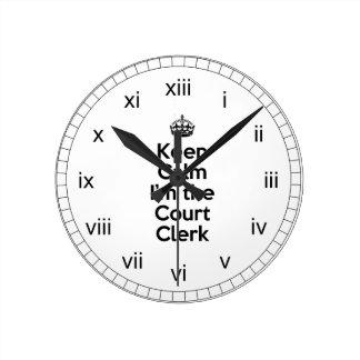 Guarde la calma que soy el alguacil reloj redondo mediano