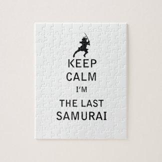 Guarde la calma que soy el samurai PASADO Rompecabezas Con Fotos