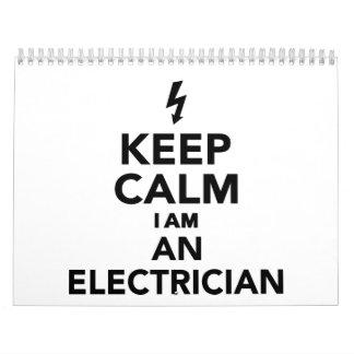 Guarde la calma que soy electricista calendarios