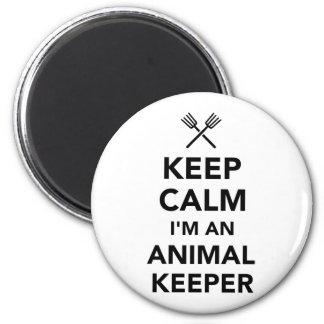 Guarde la calma que soy encargado animal imán redondo 5 cm