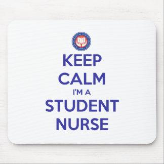 Guarde la calma que soy enfermera de estudiante tapete de ratones