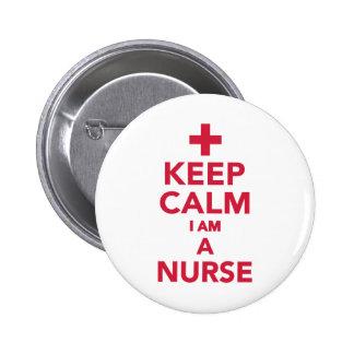Guarde la calma que soy enfermera pin redondo 5 cm