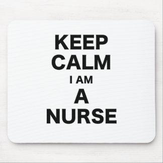 Guarde la calma que soy enfermera tapete de ratón