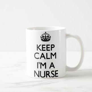 Guarde la calma que soy enfermera tazas